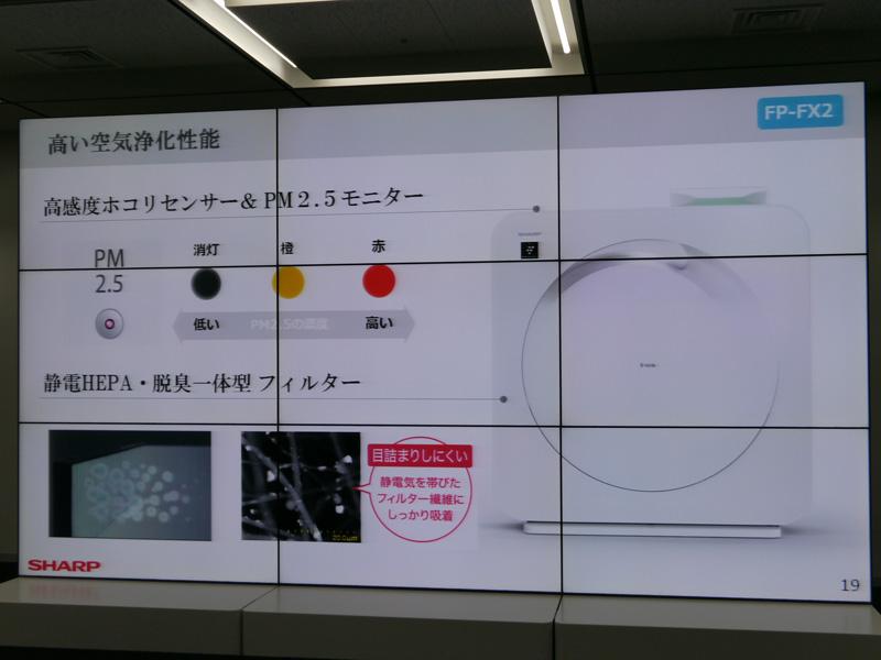 高感度ホコリセンサーと、PM2.5モニターを搭載する