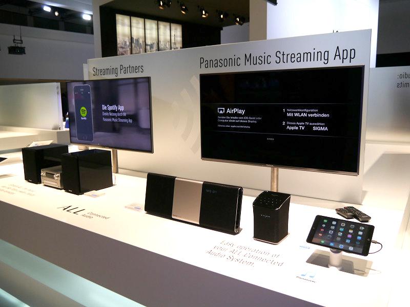 AllPlay対応のコンパクトステレオシステム「SC-ALL5CD」、ワイヤレススピーカーシステム製品「SC-ALL2」などを展示