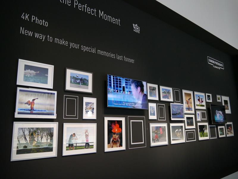 フォトギャラリーでは、「4K PHOTO」で決定的瞬間を捉えた作例などを展示