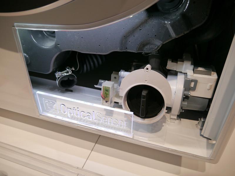 洗濯機に搭載されたオプティカルセンサー