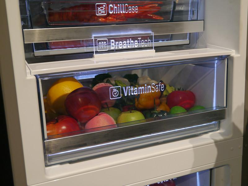 野菜の鮮度を保つVitamin Safe機能などを紹介