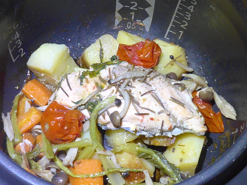 鮭と野菜のごった煮