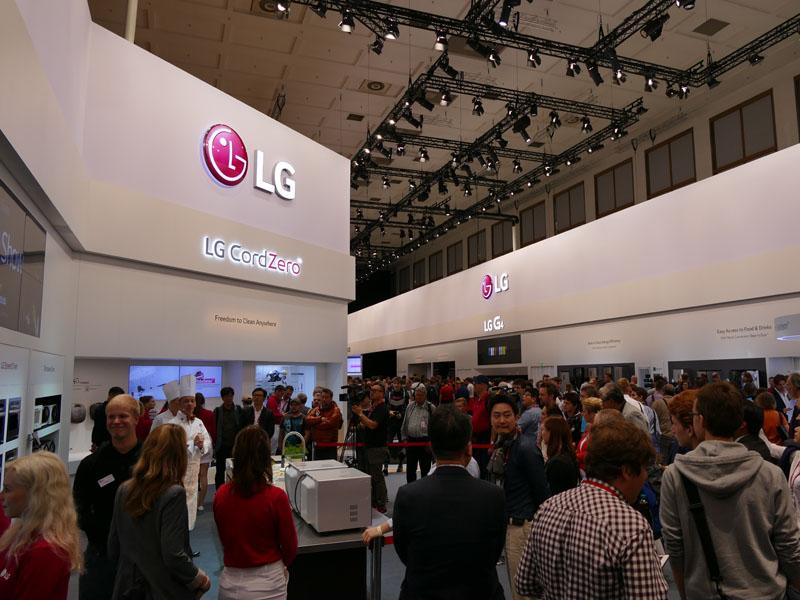 LGエレクトロニクスのブース