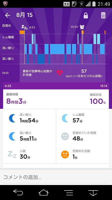浅い眠りの占める割合が多い