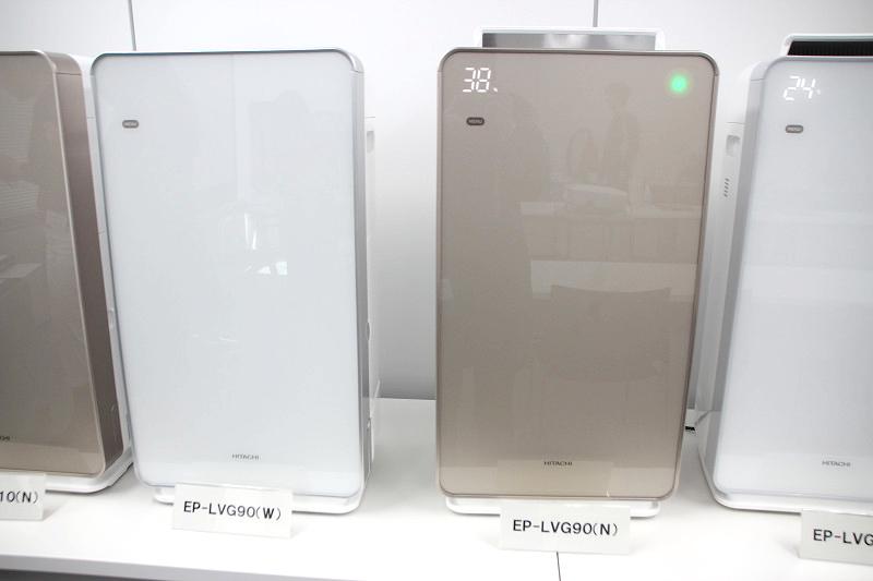 適用畳数42畳の「EP-LVG90」はシャンパンとパールホワイトの2色