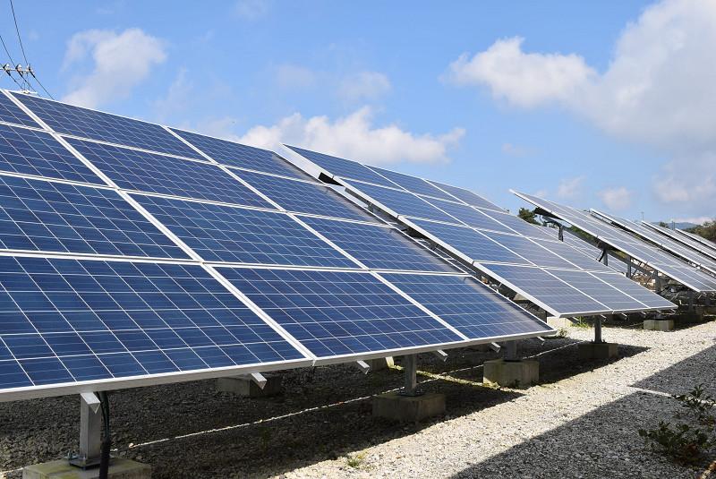富士山麓の太陽光発電所