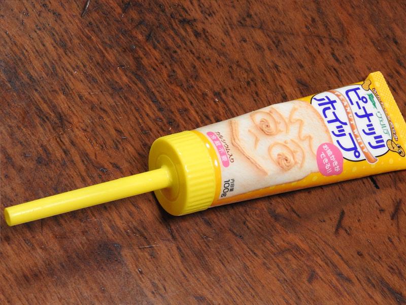 取説でも推奨されていたヴェルデのホイップクリームシリーズ。ホイップノズルを装着できる