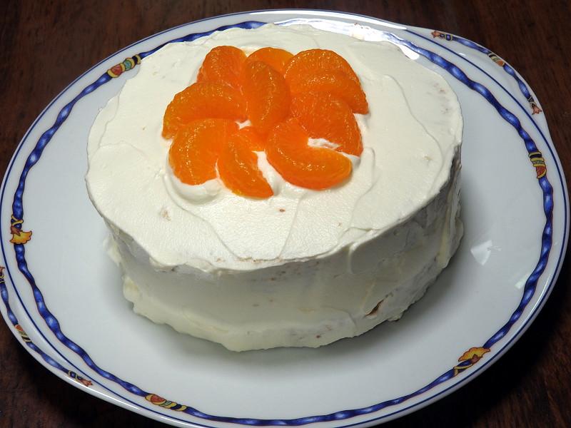 手作りのケーキは、子供たちがとても喜びます