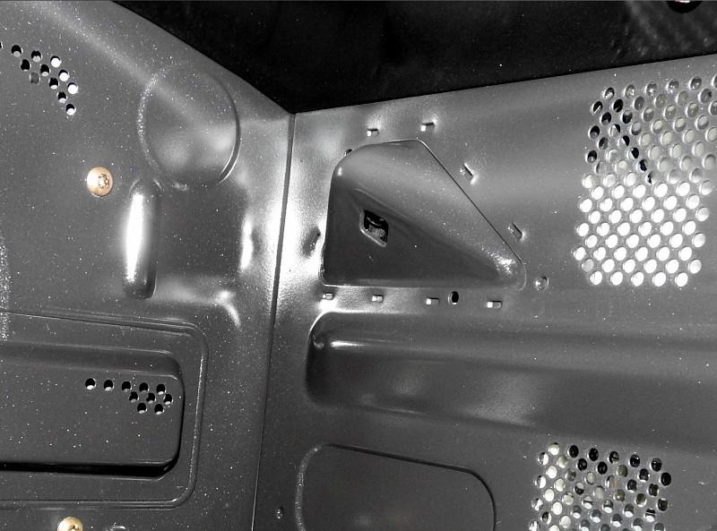 赤外線センサーは庫内の右上にある