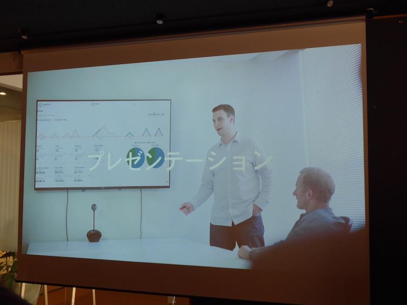 プレゼンテーション時にはスライド操作も可能