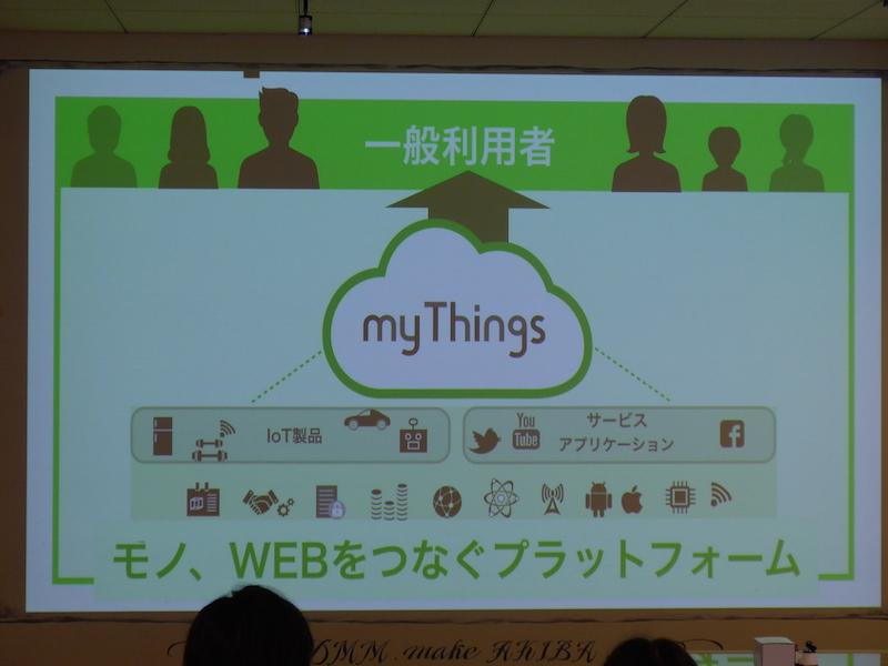 my Thingsは、IoT製品とWebサービスやアプリをつなげるプラットフォーム