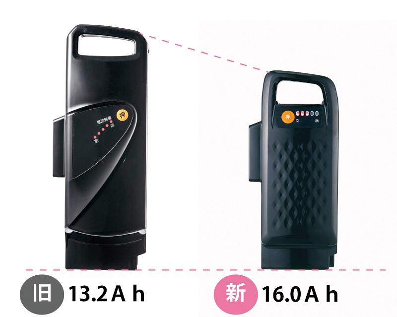 バッテリーは、大容量&コンパクト化