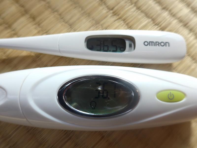 オムロン製の体温計との計測比較