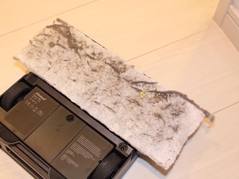 自宅の約17畳程度のLDKを掃除したところ。こんなにたくさんのホコリと汚れが……