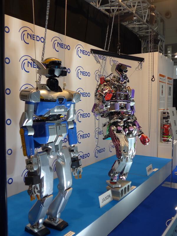 新エネルギー・産業技術総合開発機構(NEDO)のブースでは、災害対応ヒューマノイドロボットなどが見られる