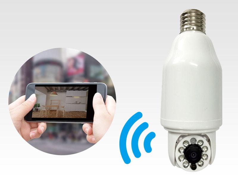 Wi-Fiとつなげれば、リアルタイム映像をどこからでもスマホで確認できる