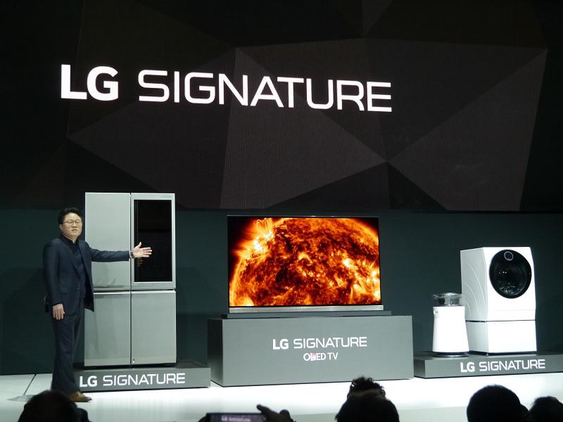 プレスカンファレンスではLG SIGNATUREを打ち出した
