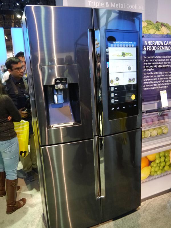 サムスンが発表した新たな冷蔵庫。今年春に発売することになる