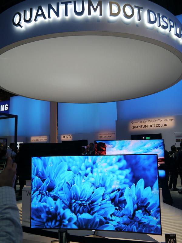 量子ドット技術を採用したテレビの幅広いラインアップを訴求