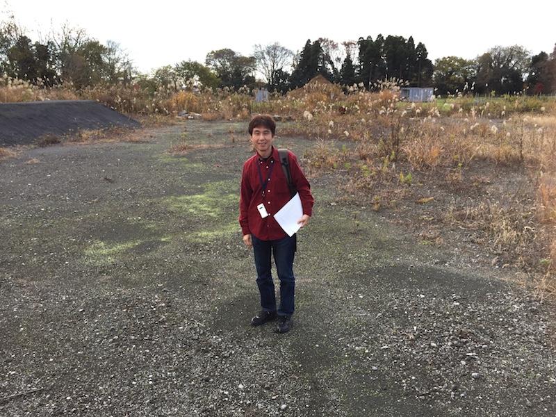 資材置き場だったこともあり、整地されていて砂利も敷かれている