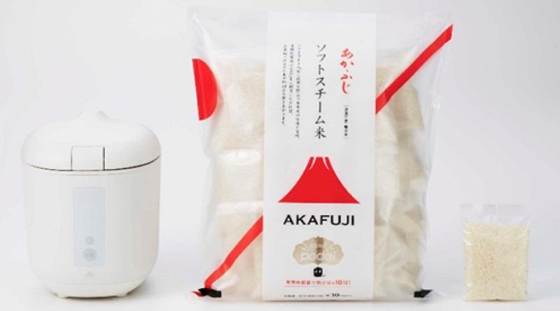 専用の「ソフトスチーム米」を使うことで約10分で炊飯できる