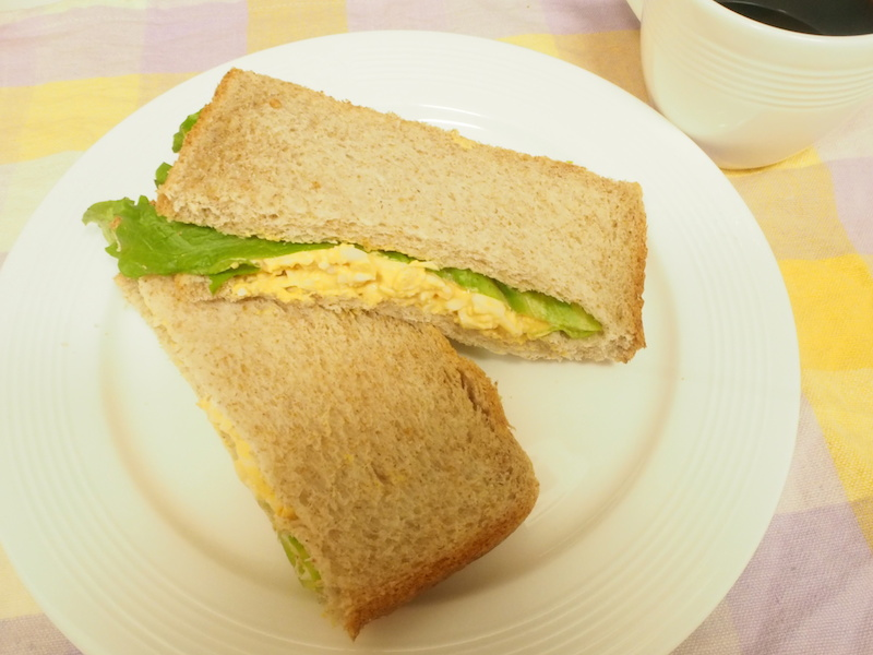 マヨネーズと和えてパンに挟めば、エッグサンドも美味しくできた