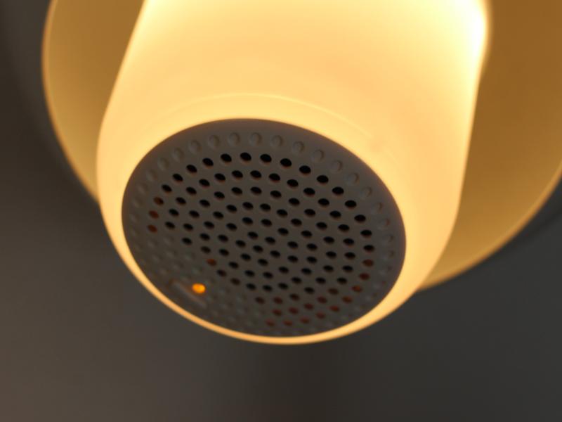 Bluetoothとの接続状態は、スピーカー部のライトの色で表示される