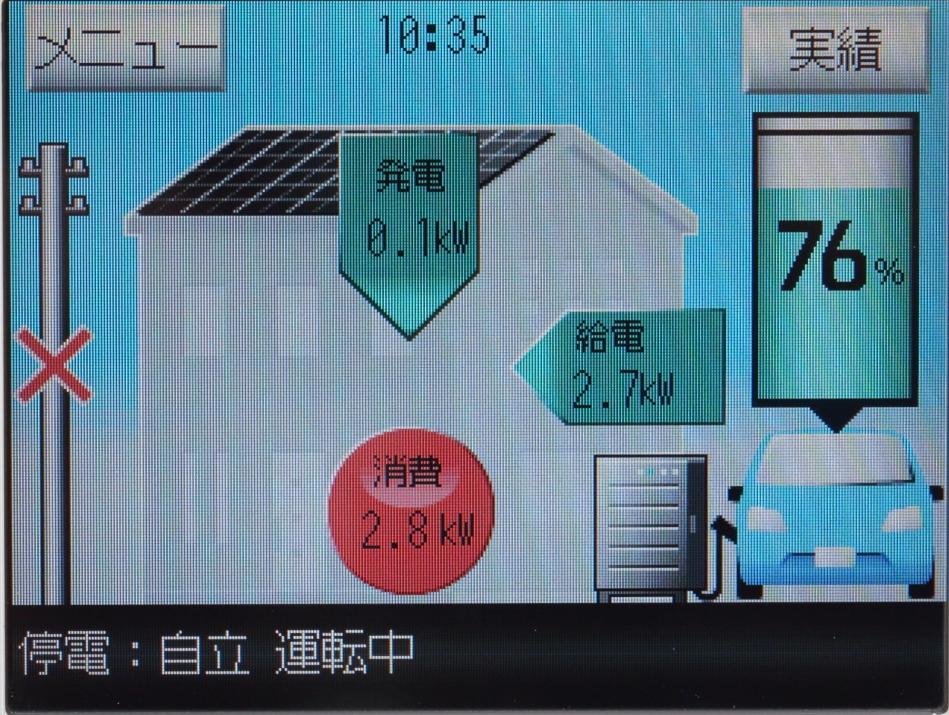 電柱にバツがついているから辛うじて停電と分かるが、家の中の電気はエアコンも使えてて、停電前と何も変わらない! んがー! どうやってコレを皆さんに伝えればいいのか難しすぎるっ!