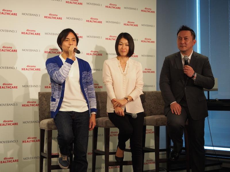(左から)新CMに起用された、バルーンショップ経営の栗原文義氏、妻で会社員の恵子氏、ジャーナリストの仲野博文氏