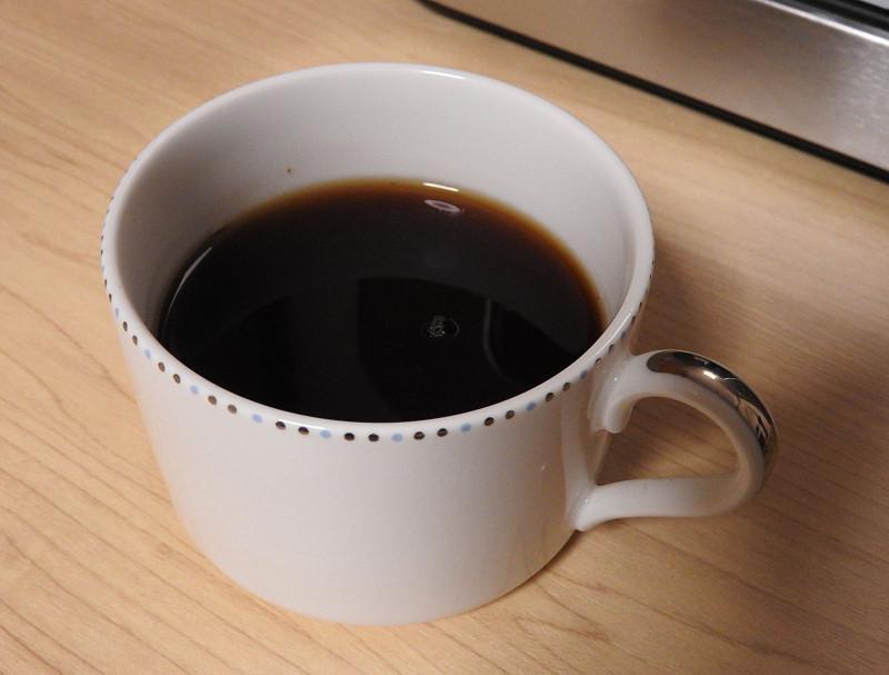苦味が薄く、香りがよいコーヒー