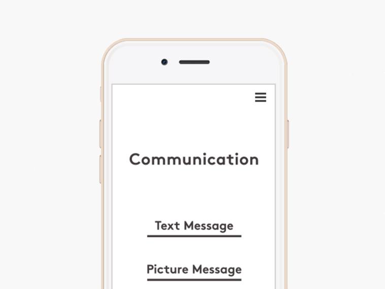 アプリからテキストメッセージや画像も送れる