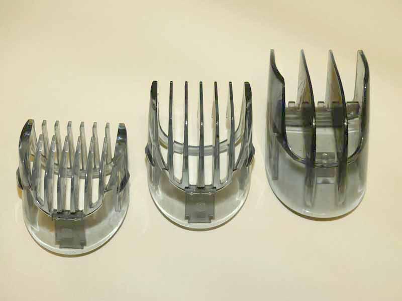 左からアタッチメントA(1~10mm用)、アタッチメントB(11~20mm)、ナチュラルアタッチメント