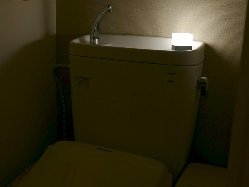 トイレや洗面所の明かりとしても、なかなかオシャレ