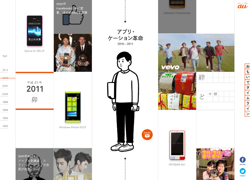 """<a href=""""http://time-space.kddi.com/omoide/index.php?id=topic-2011"""" class=""""n"""" target=""""_blank"""">「おもいでタイムライン」の2011年へ</a>"""