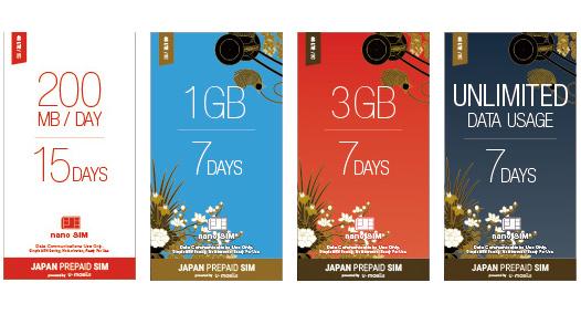 「JAPAN PREPAID SIM」パッケージ