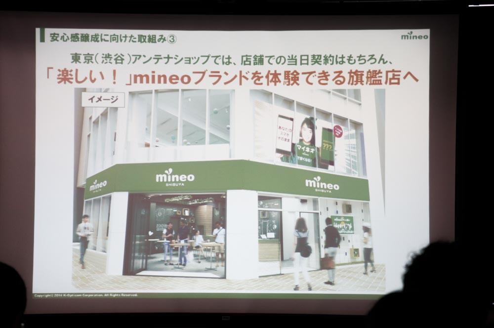 mineo旗艦店の完成予想イメージ
