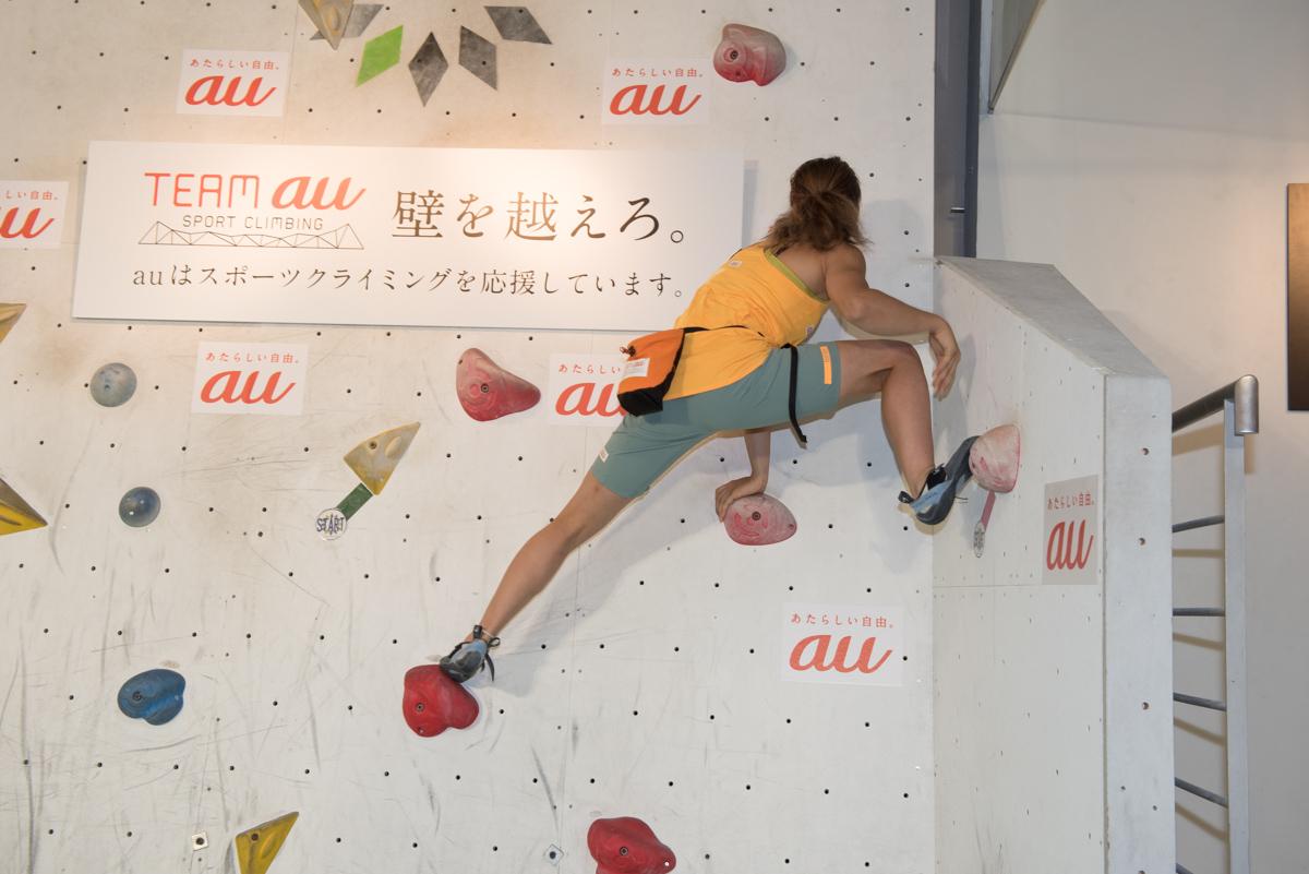 野中生萌選手。あっという間に登ってしまった