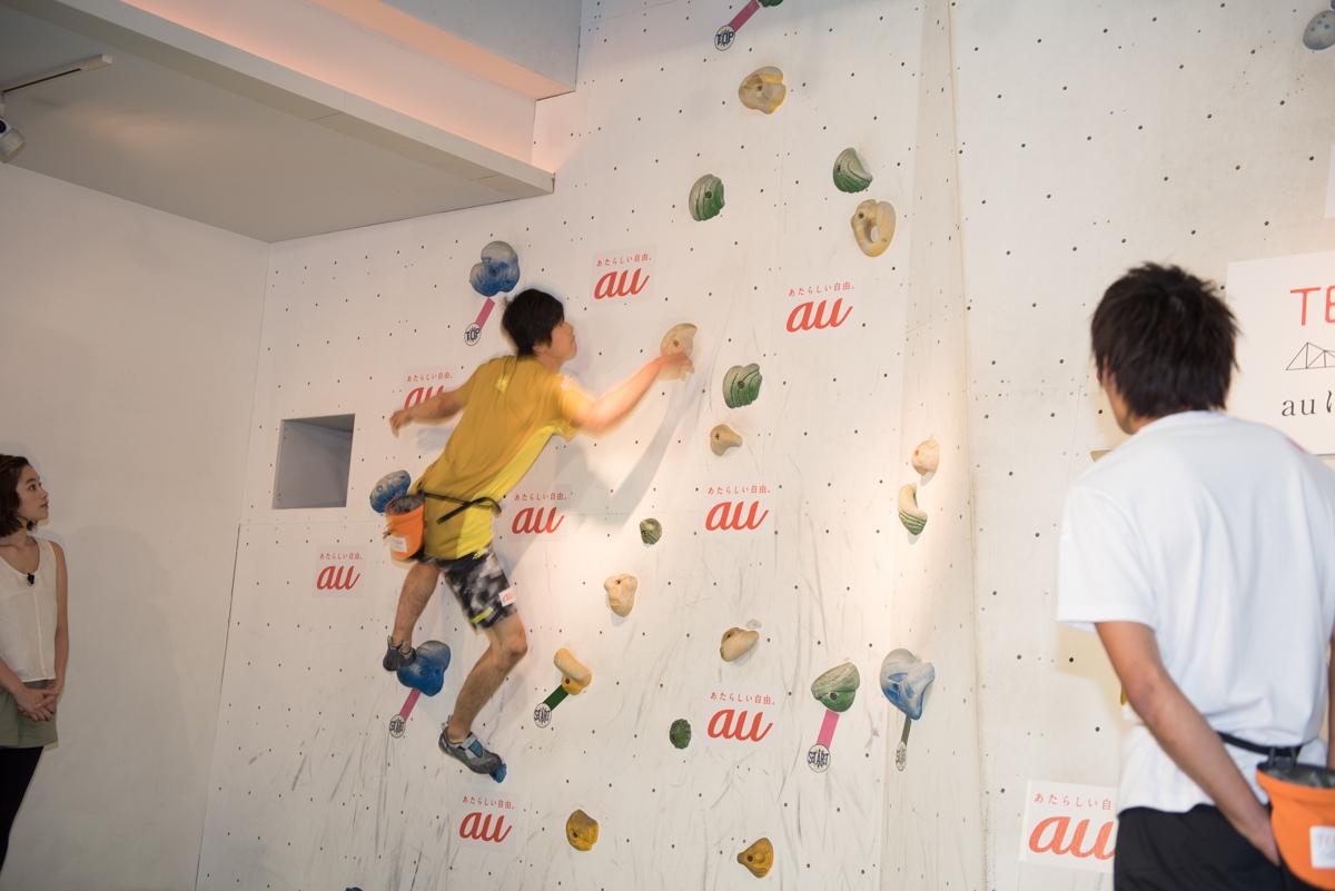 藤井快選手。こちらも横に飛び移る技を披露