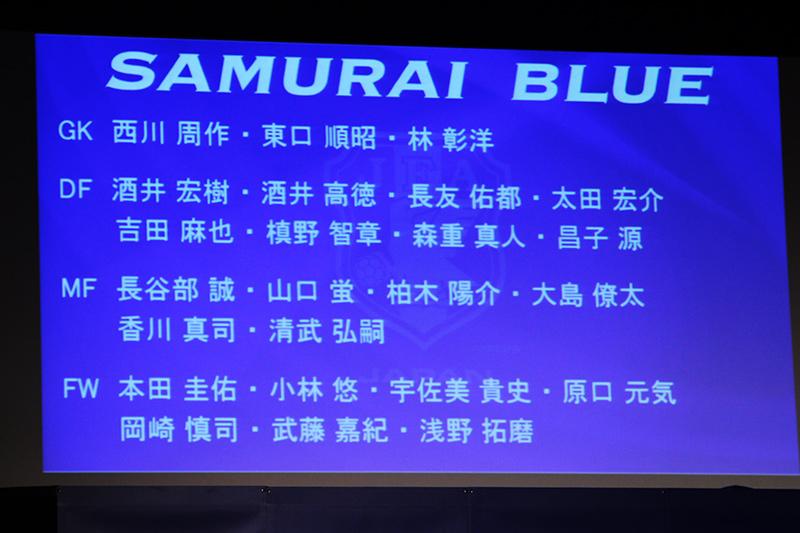 アジア最終予選の日本代表メンバー