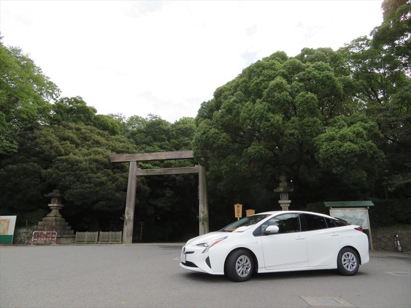 2日目は熱田神宮などを回って100kmの走破を目指した