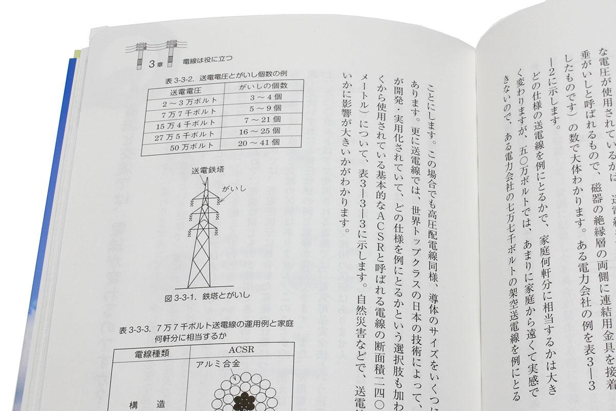 『身近な電線のはなし』(一般社団法人電線総合技術センター編集)。電線に関して「普通はあまり知られていないコト」がたっぷり書かれた本で、ひらたく説明された項目も多々あります。身近な電線について、様々な角度から親しめるようになる解説書です。