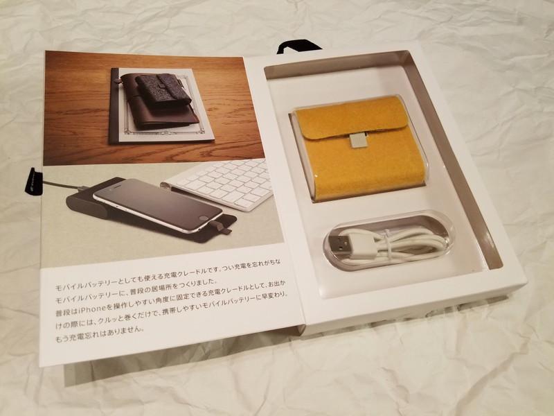 本体と充電用USBケーブル、多言語の取説も入っている