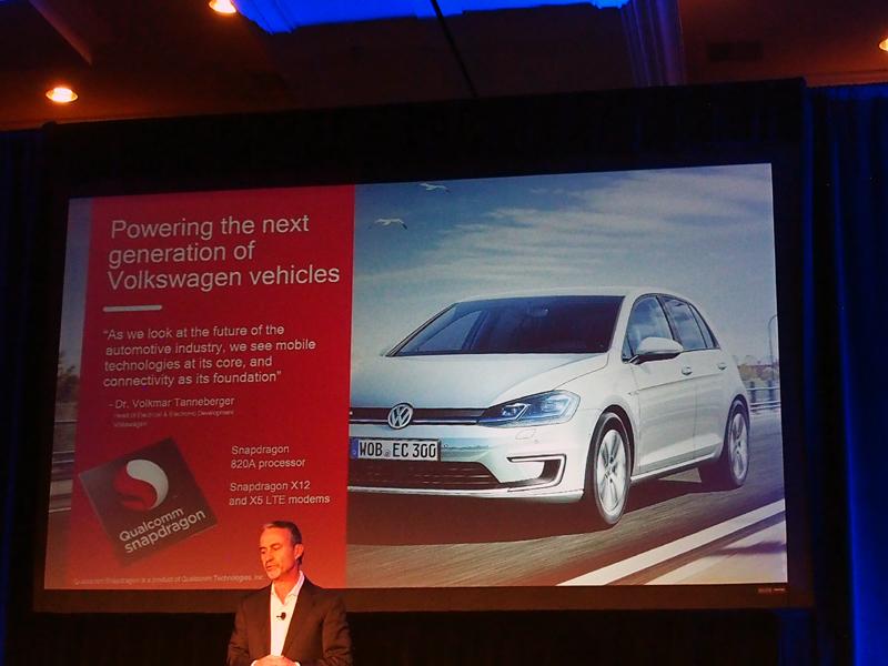 コネクティッドカーの分野では、モデムや、採用するメーカーが紹介された