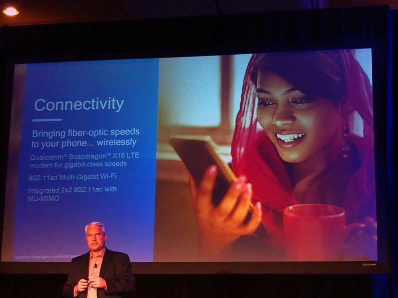 モデムには1Gbps通信に対応した「Snapdragon X16 LTE」を採用