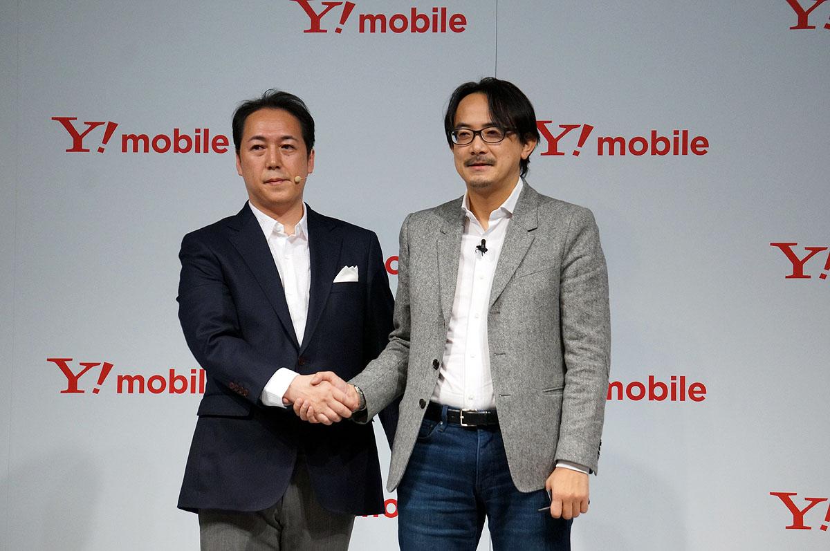 寺尾氏(左)とヤフー副社長の川邊健太郎氏(右)