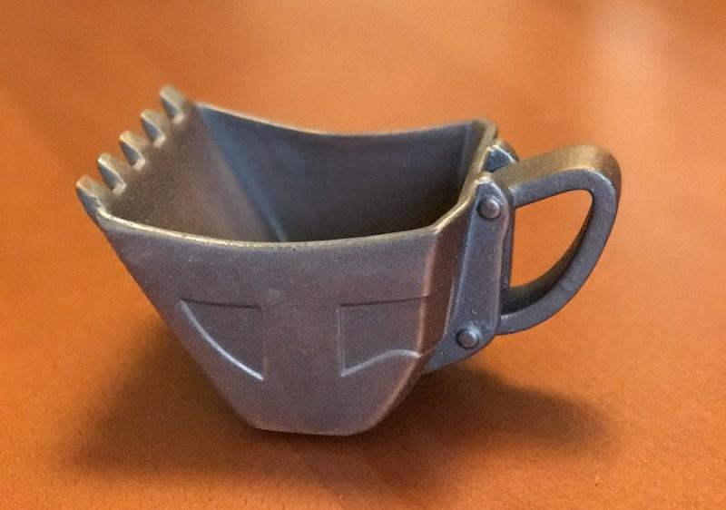 油圧ショベルバケットカップ 鉄さび