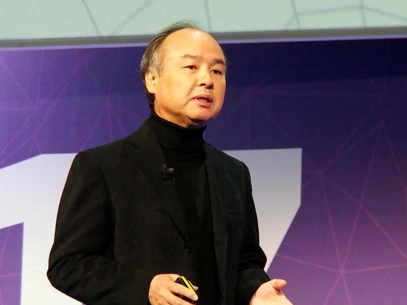 Mobile World Congressの基調講演に登壇した、ソフトバンクグループの孫正義氏