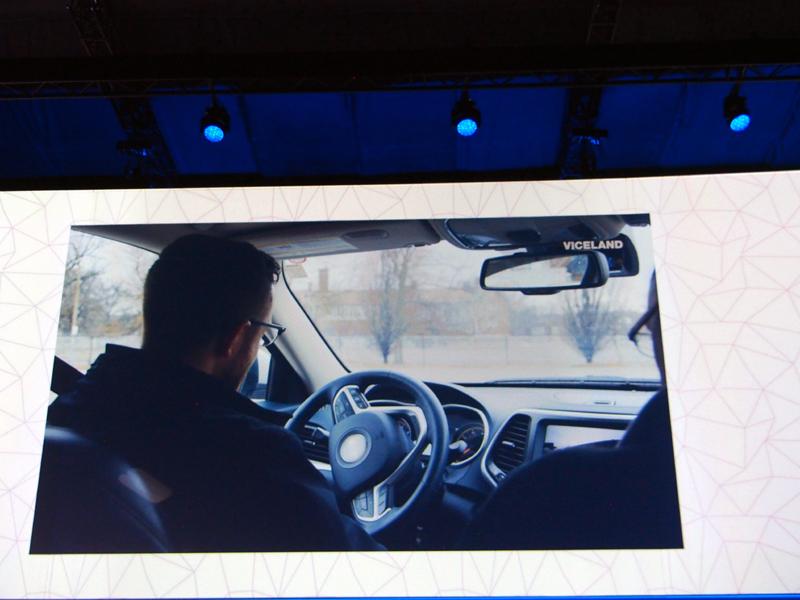 車がハッキングされるデモに続けて、ARMの「TrustZone」を紹介