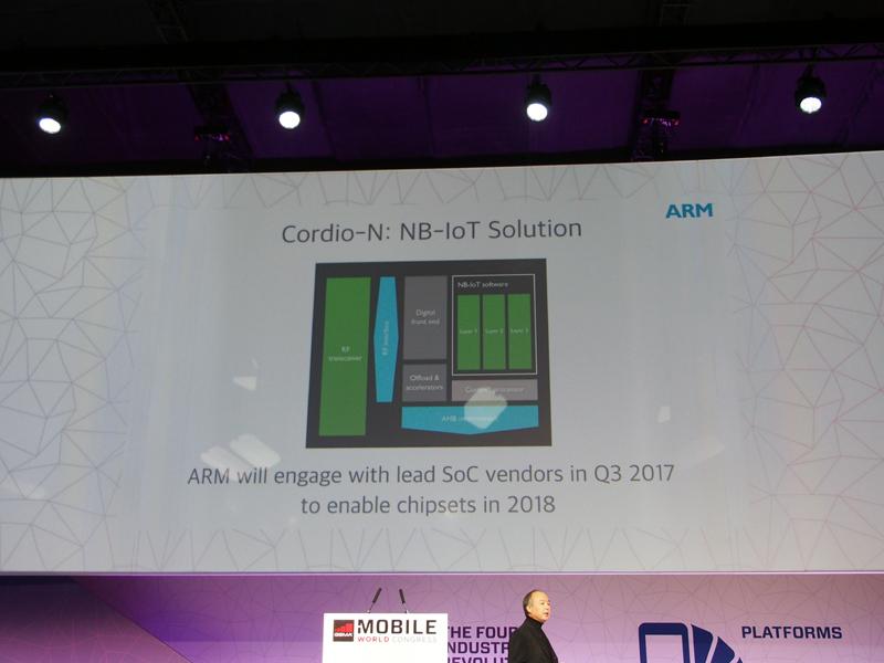 買収した企業の技術を統合してARMが開発を予定しているNB-IoT用のモデムチップ