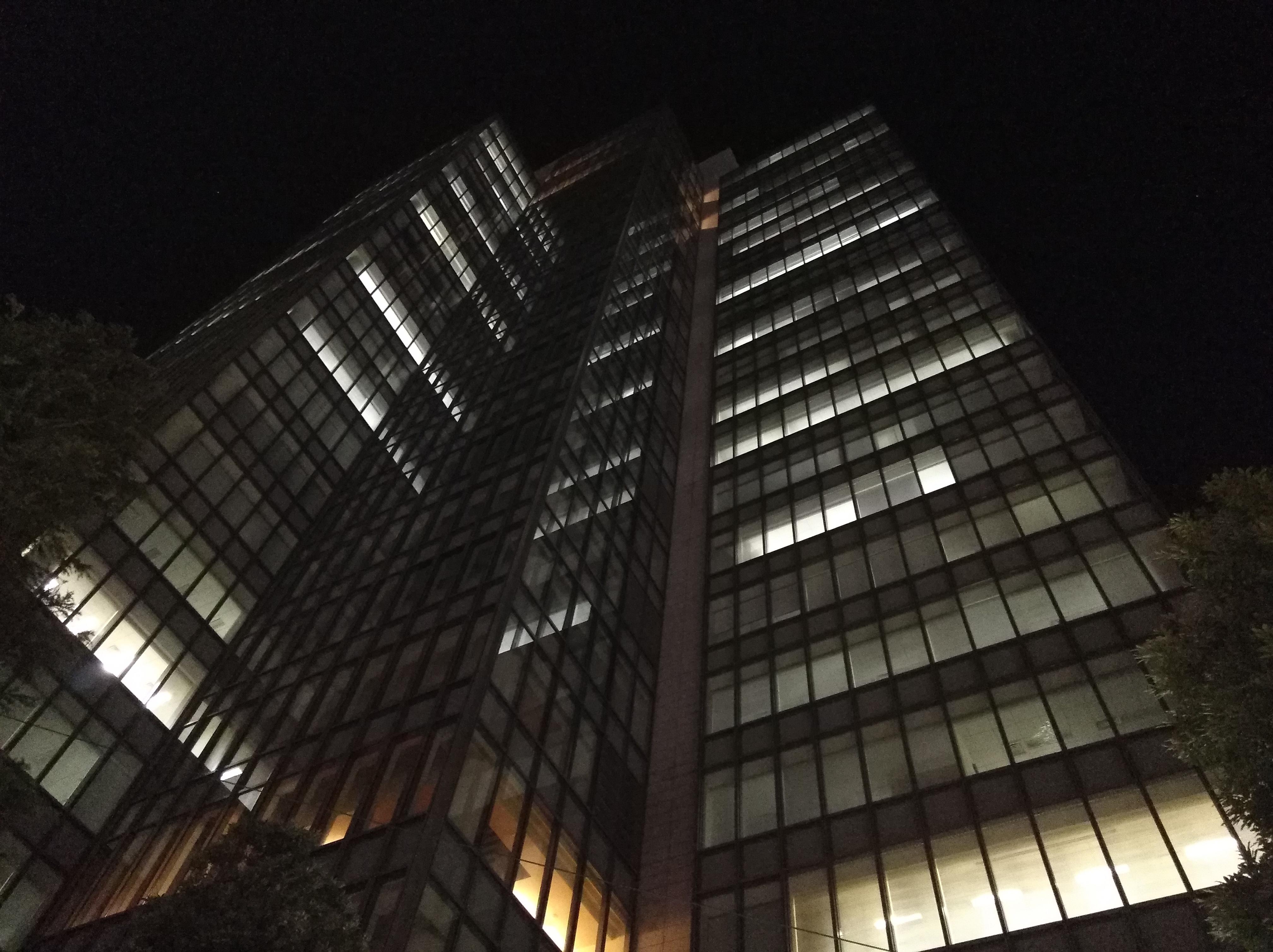 夜間の撮影サンプル